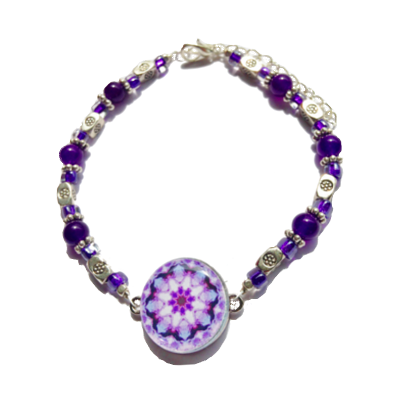 One Putt Design-Amethyst Ball Marker Ankle Bracelet