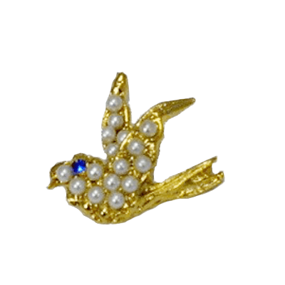 Birdie Of Faux Pearls Golf Tac Pin1202LP