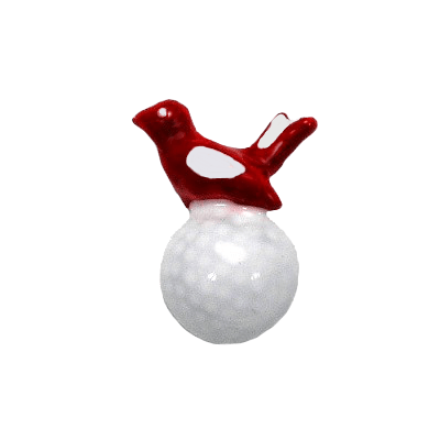 Birdie On White Golf Ball Tac Pin, Red1300TP-Red