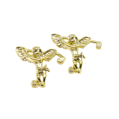 Clubhouse Angel With Golf Club Post EarringsBEP-151G