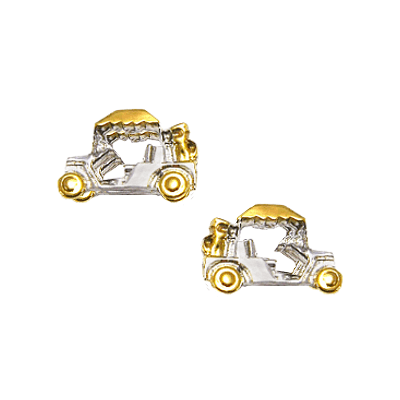 Clubhouse Two-tone Golf Cart Earrings202T
