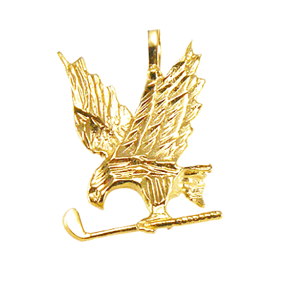 Eagle With Golf Club Pendant