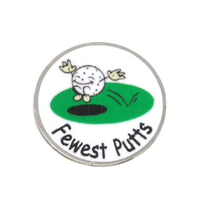 Magnetic Ball Marker Silver, Fewest Putts