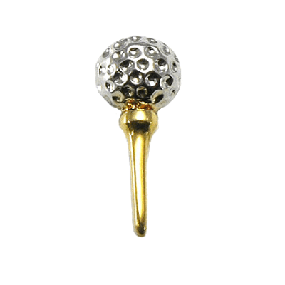 Golf Ball on Tee Tu-Tone Tac Pin1339TP