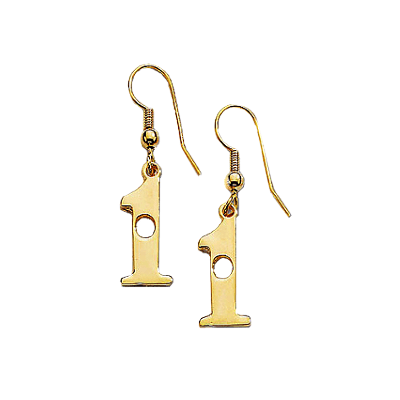 Golf Hole in One Earrings, Earwire