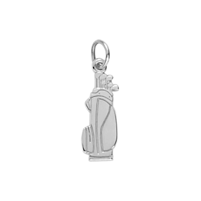 Golf Bag Charm Engravable, Sterling Silver