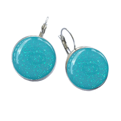 Golf Ball Marker Earrings, AquaOPD-BME-2