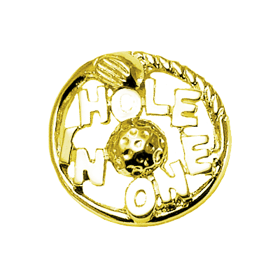 Hole In One Circle Club Golf Tac Pin