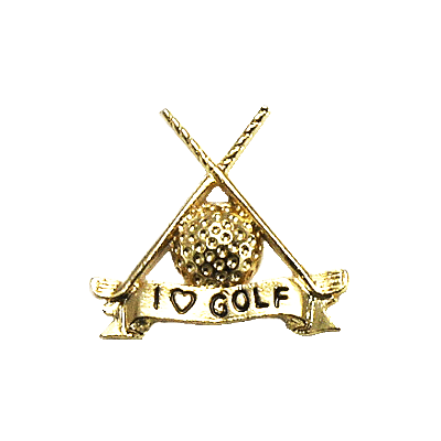 I Love Golf Crossed Golf Clubs1323TP