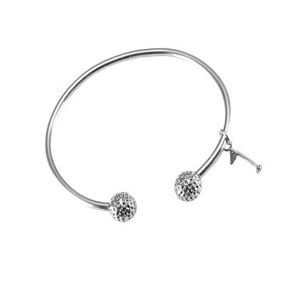 Golf Bangle Bracelet with Flagstick Charm, Sterling SilverKC181FLAGSTICK