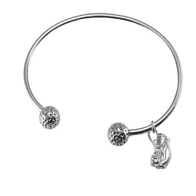 Golf Bangle Bracelet with Golf Bag Charm, Sterling SilverKC181GOLF BAG