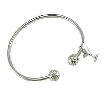 Golf Bangle Bracelet Martini Glass, Sterling SilverKC181MARTINI