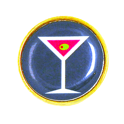 Golf Ball Marker, Flat Bottom, MartiniRL25-MARTINI