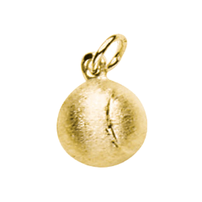 Tennis Ball Charm, 14K Gold197K