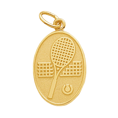 Tennis Charm, Oval, 14K Gold179K