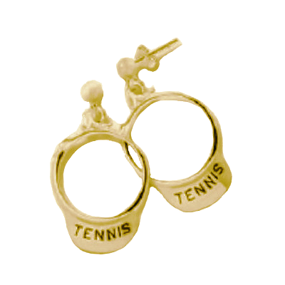 Tennis Visor Earrings, Vermeil245V