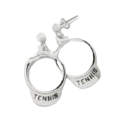 Tennis Visor Earrings, Sterling Silver245S