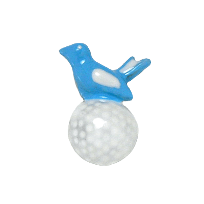 Birdie On White Golf Ball Tac Pin, Blue1300TP-Blue