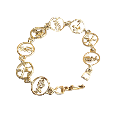 Golf Bracelet with Circles BBR-101G