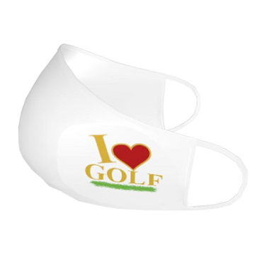 Face Mask - I Love GolfFM-OVP-1