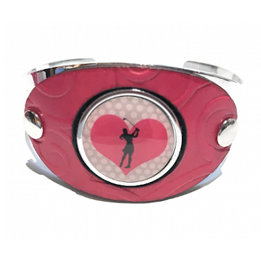 Leather Ball Marker Cuff - PinkOPD-LBMC-CP
