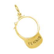 Gold Tennis Charms