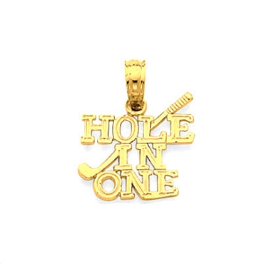 Hole-In-One Pendant, 14K Gold1120K