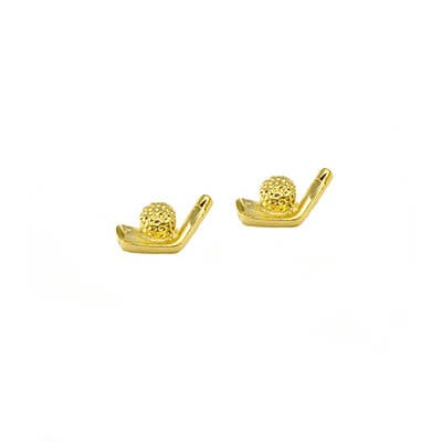 Clubhouse Iron & Ball Post Golf Earrings