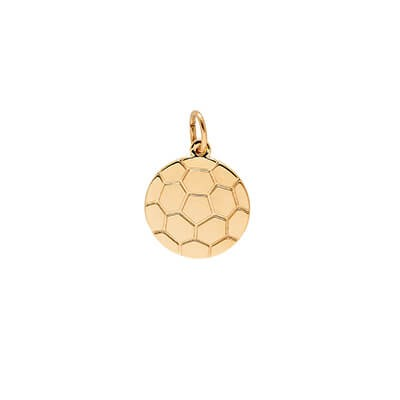 Soccer Ball Disc Charm, 14K Gold