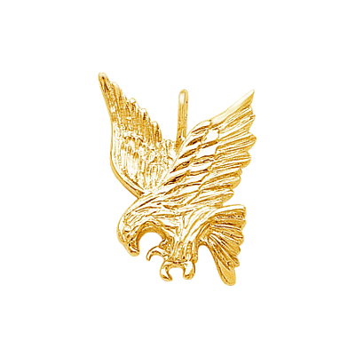 Eagle Golf Charm, 14K Gold