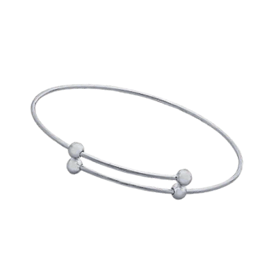 Expandable Bangle Bracelet with Ball Ends