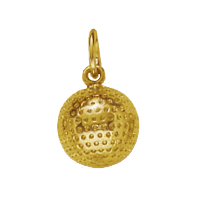 Golf Ball Charm, 14K Gold