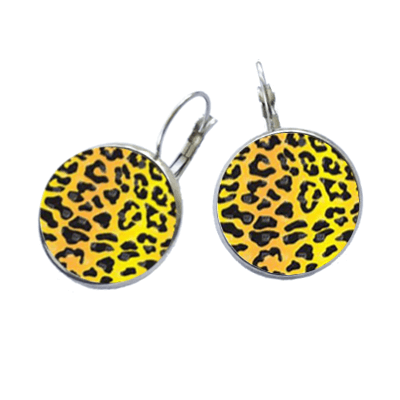 Golf Ball Marker Earrings, Cheetah