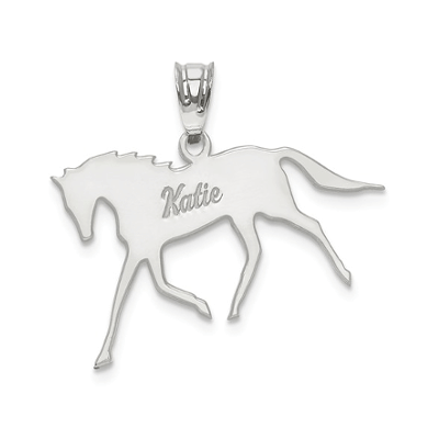 Horse Pendant with your name engraved