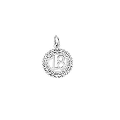 Number Charm, Sterling Silver